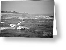Across The Bay Bw Greeting Card