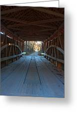 Across The Bridge And Through The Woods Greeting Card