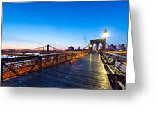 Across The Bridge Greeting Card by Daniel Chen