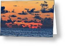 Across The Great Blue Waters Greeting Card
