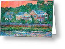 Across The Marsh At Pawleys Island       Greeting Card by Kendall Kessler