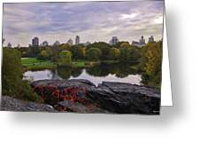 Across The Pond 2 - Central Park - Nyc Greeting Card