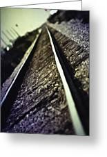 Across The Tracks Greeting Card