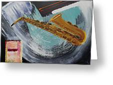 Acrylic Msc 036  Greeting Card