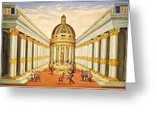 Bacchus Temple Greeting Card