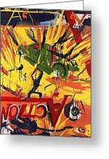 Action Abstraction No. 1 Greeting Card