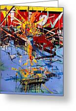 Action Abstraction No. 6 Greeting Card