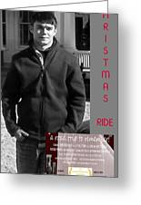Actor In Christmas Ride Film Greeting Card
