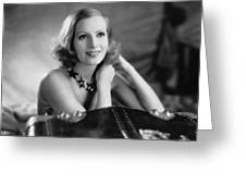 Actress Greta Garbo Greeting Card