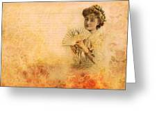 Actress In The Pink Vintage Collage Greeting Card