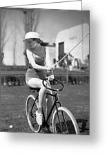 Actress Plays Bike Polo Greeting Card