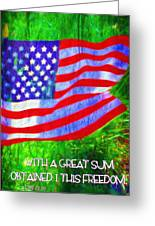 Acts 22 28 Greeting Card
