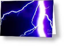 Actual Lightning In Zoom Image Greeting Card
