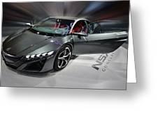 Acura N S X Sh Concept 2013 Greeting Card