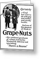 Ad Grape Nuts, 1919 Greeting Card