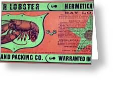 Ad Lobster, C1867 Greeting Card