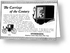 Ad Studebaker Carriages Greeting Card