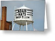 Adam Hats In Deep Ellum Greeting Card