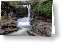 Adams Falls As Nightfall Approaches Greeting Card
