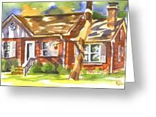 Adams Home Greeting Card by Kip DeVore