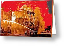 Adams Hotel Fire 1910 Phoenix Arizona 1910-2012 Greeting Card