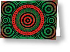 Adinkra Disk Pan-african II Greeting Card