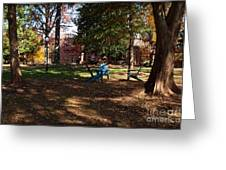 Adirondack Chairs 2 - Davidson College Greeting Card
