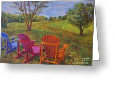Adirondack Chairs In Leiper's Fork Greeting Card