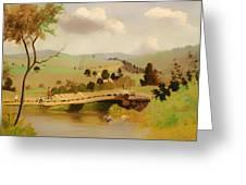 Adirondacks Bridge For Fishing Greeting Card