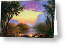Adirondacks Sunset Greeting Card