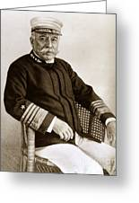 Admiral Of The Navy George Dewey Seen In 1899 On The Uss Olympia Greeting Card