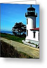 Admiralty Head Lighthouse View  Greeting Card