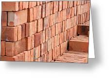 Adobe Bricks Drying In The Sun Greeting Card