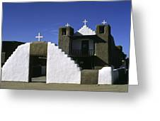 Adobe Church Taos Greeting Card
