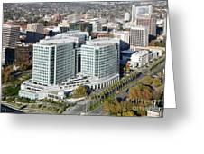 Adobe Systems Building San Jose California Greeting Card