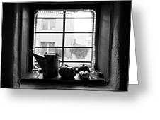 Adobe Window Autumn Still Life Greeting Card