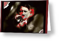 Adolf Hitler Saluting Screen Capture From Newsreel No Date-2008 Greeting Card