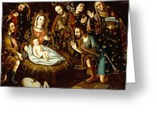 Adoration Of The Sheperds Greeting Card