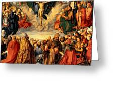 Adoration Of The Trinity Greeting Card