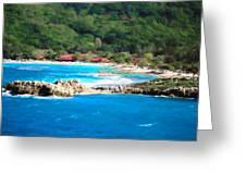 Adrenaline Beach - Cezanne II Greeting Card