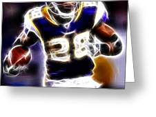 Adrian Peterson 01 - Football - Fantasy Greeting Card