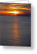 Adriatic Sunset Greeting Card