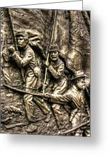 Advancing The Colors - State Of Delaware Monument Gettysburg Detail-a Autumn Mid-day Greeting Card