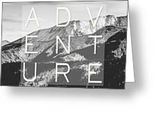 Adventure Typography Greeting Card