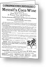 Advertisement: Coca Wine Greeting Card