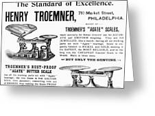 Advertisement Scales Greeting Card