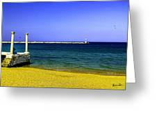 Aegean Lookout Greeting Card