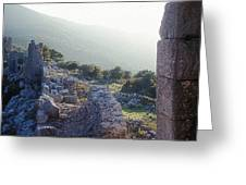 Aegothena Fortification Greeting Card