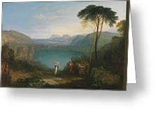 Aeneas And The Cumaean Sybil Greeting Card