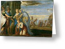 Aeneas Taking Leave Of Dido Greeting Card